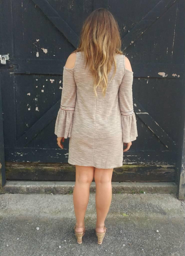 Mocha Cold Shoulder Dress