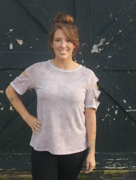 Mauve Slasher Top