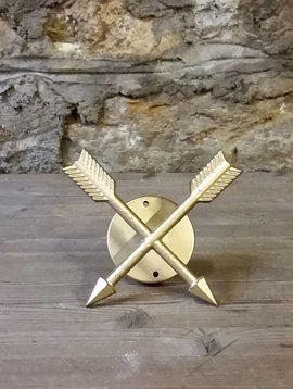 Crossed Arrow Gold Wall Hook