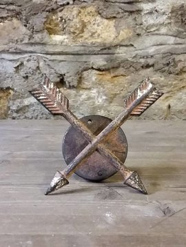 Crossed Arrow Copper Wall Hook