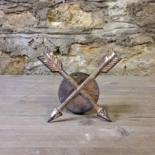 Crossed Arrow Copper Wall Hook