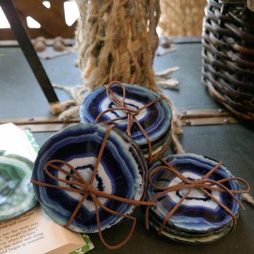 Faux Agate Coaster Set