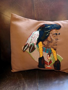 Native American Vintage Pillow