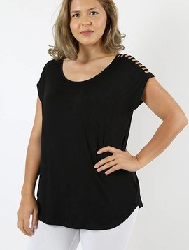 Black Dolman Top Curvy