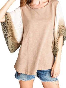 Mocha Kimono Sleeve Top