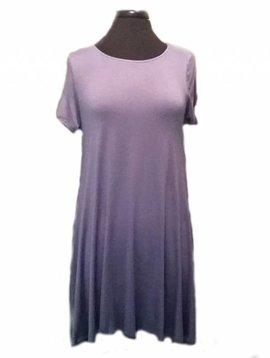 Slate Blue TShirt Dress