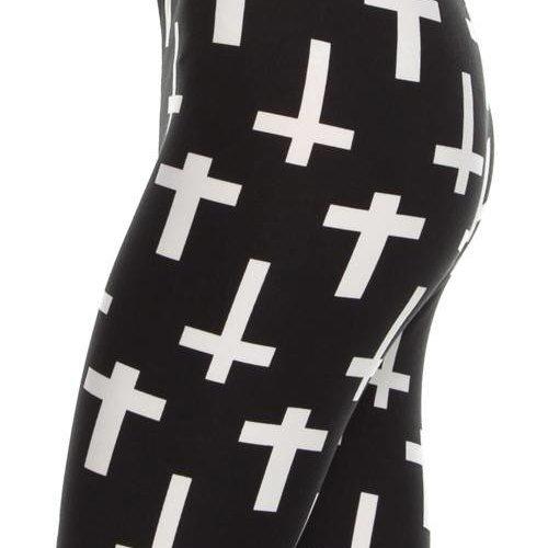 Cross Print Curvy Legging