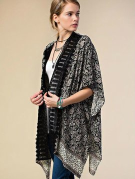 Black Paisley Kimono