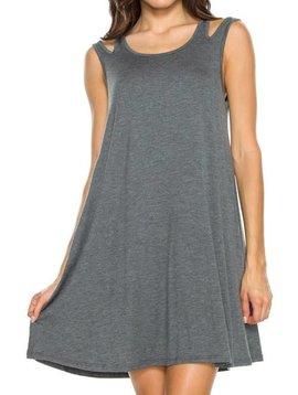 Charcoal Cutout Dress