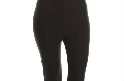 Solid Black Curvy Legging