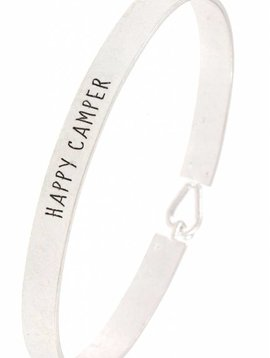 Happy Camper Bangle Silver