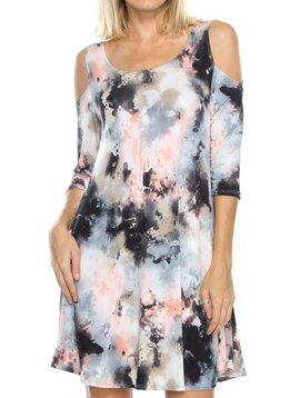 Lola Cold Shoulder Curvy Dress