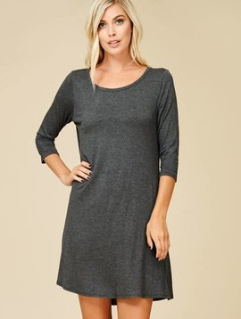 Rachel Gray Shirt Dress
