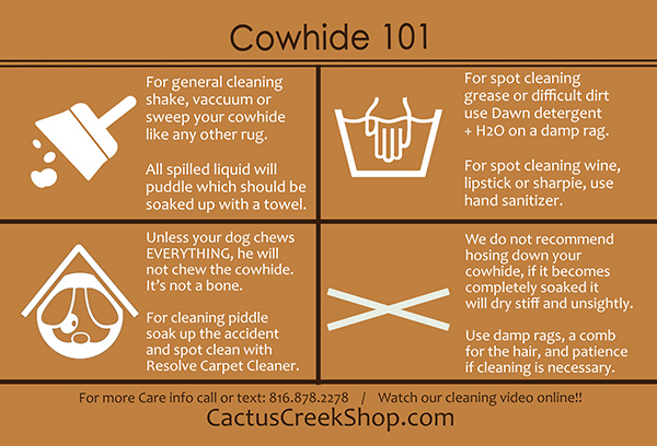Cowhide Care 101