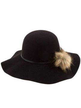 Ava Wave Brim Hat Black