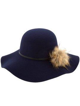 Ava Wave Brim Hat Navy
