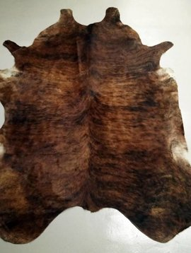 Dark Brown Brindle Cowhide 2141