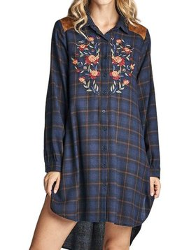 Melinda Plaid Tunic