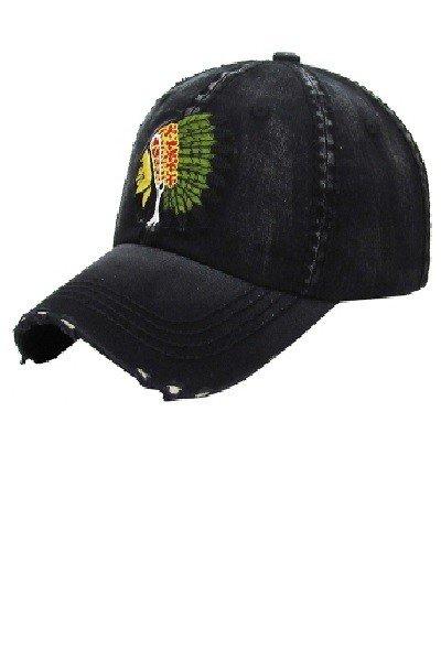 Black Chief Ball Cap