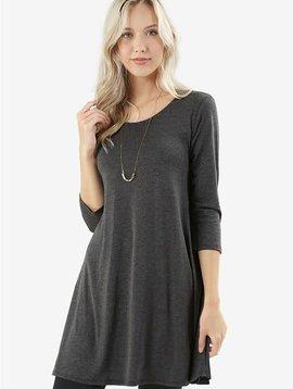 Phoebe Gray Shirt Dress