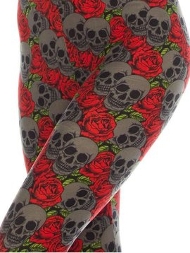 Skull and Rose Legging Curvy