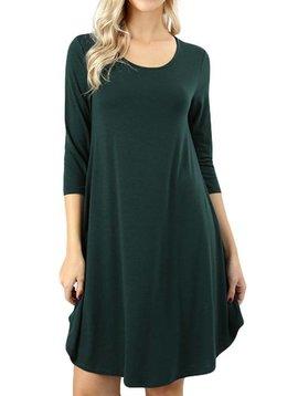 Hunter Green Shirt Dress