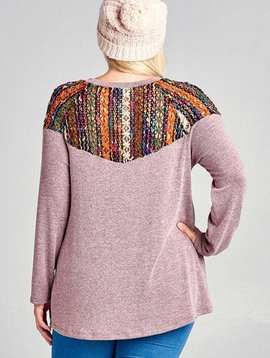 Hippy Chick Mauve Curvy Top