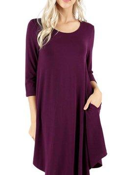 Plum Pudding Shirt Dress