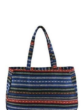 Aztec Tote Bag Blue