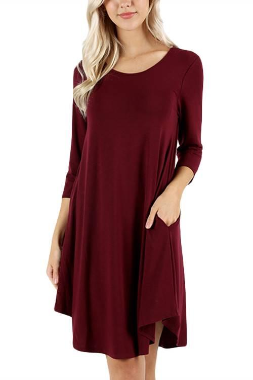 Dark Burg Shirt Dress