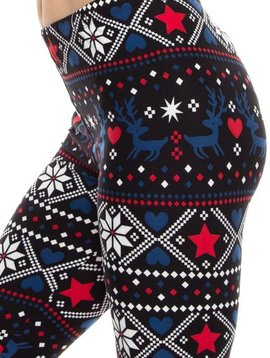 Winter Reindeer Legging Curvy