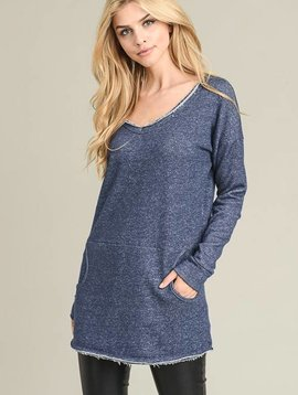Joey Navy Sweatshirt Top