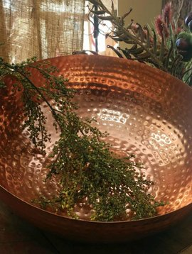 Hammered Metal Bowl