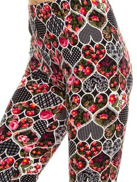 Floral Hearts Legging