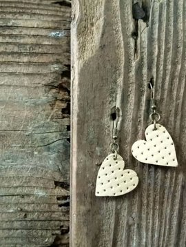 Leather Solite Heart Earring #4