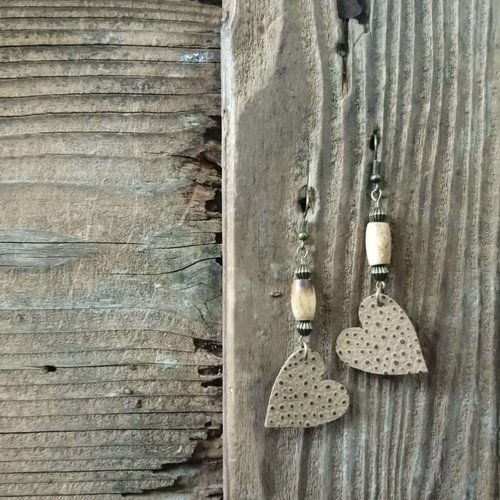 Leather Solite Heart Earring #6