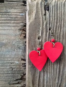 Leather Solite Heart Earring #7