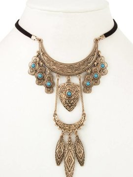 Ornate Tiered Choker Necklace