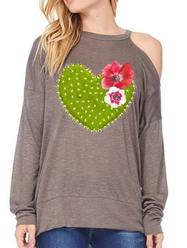 Cold Shoulder Cactus Top