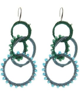 Crocheted Tier Earring