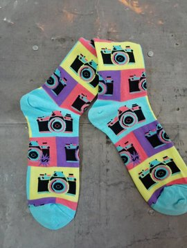 Say Cheese Crew Socks