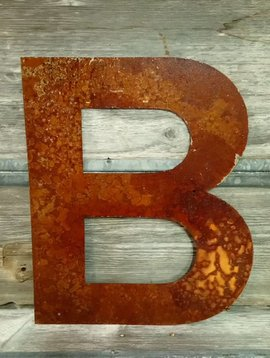Rusted Metal Letter B 18""