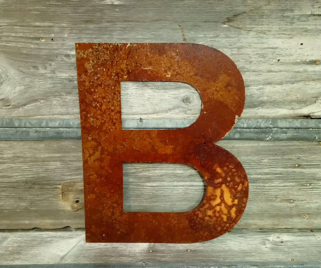 """Rusted Metal Letter B 18"""""""