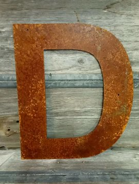 Rusted Metal Letter D 18""
