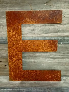 Rusted Metal Letter E 18""