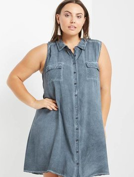 Remy Stone Washed Tunic Curvy