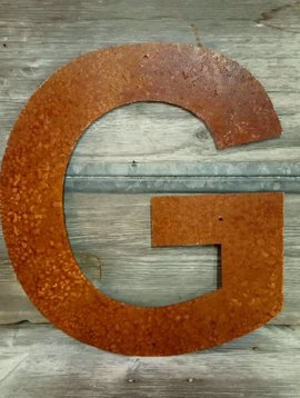 """Rusted Metal Letter G 18"""""""