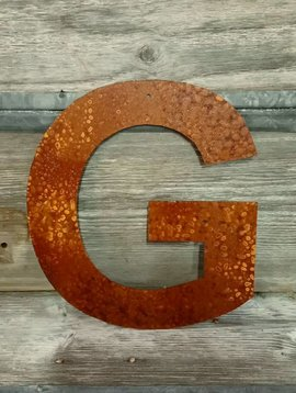 """Rusted Metal Letter G 12"""""""