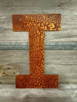Rusted Metal Letter I 18""