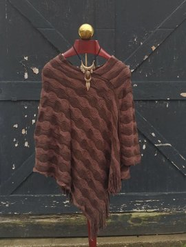 Wave Stripe Poncho